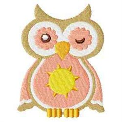 Owl Wink embroidery design