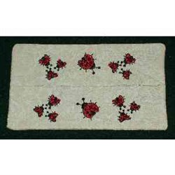 Ladybug Tissue Case embroidery design