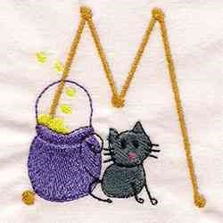 Halloween Alphabet M embroidery design