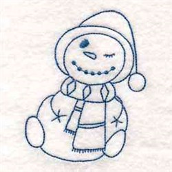 Snowman Redwork embroidery design