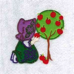 Picking Apples embroidery design