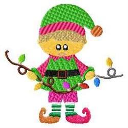 Santas Elf embroidery design