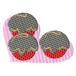 Valentine Cupcakes embroidery design