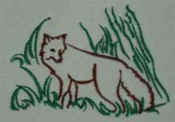 Fox Outline embroidery design
