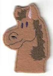 Horse Finger Puppet embroidery design