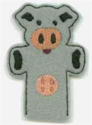 Cow Hand Puppet embroidery design