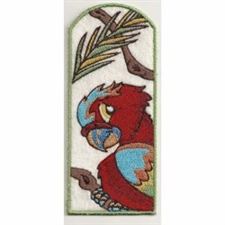 Macaw Bookmark embroidery design
