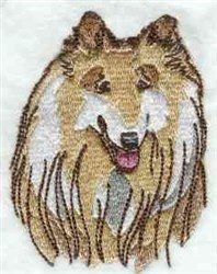 Collie Head embroidery design