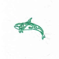 Tattoo Whale embroidery design