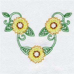 Sunflower Swag embroidery design