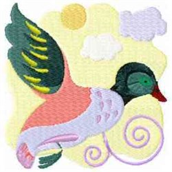 Jacobean Duck embroidery design
