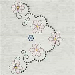 Table Linen Floral embroidery design