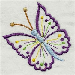 Flutter Butterfly embroidery design