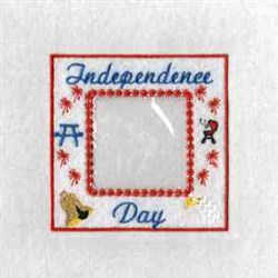 Independence Photo Cube embroidery design