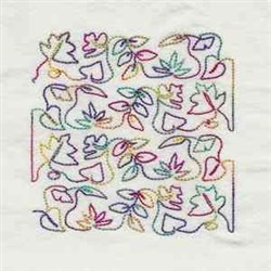 Quilt Leaf Block embroidery design