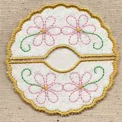 Floral Coaster embroidery design