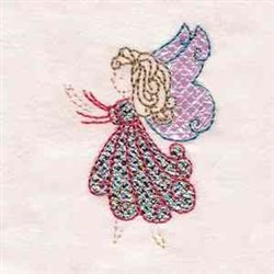 Applique Butterfly Girl embroidery design