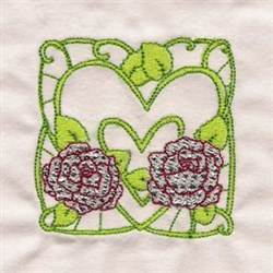Rose Decor Block embroidery design