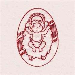 Redwork Manger embroidery design