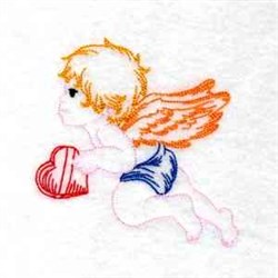 Valentine Cupid embroidery design