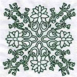 Floral Persian Block embroidery design