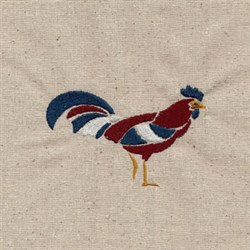 Patriotic Rooster embroidery design