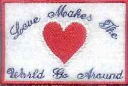 World Go Around embroidery design