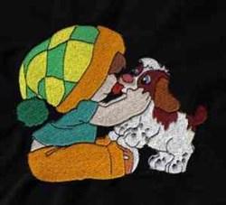 Boy & Puppy embroidery design