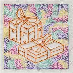 trapunxmasbl_004 embroidery design