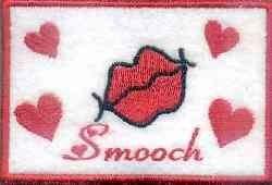 Valentine Smooch embroidery design