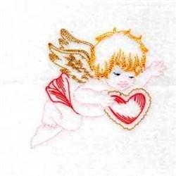 Valentine Cupid embroidery design