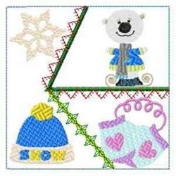 Polar Bear Block embroidery design