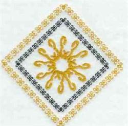 Diamond Quilt Block embroidery design