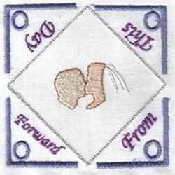 Wedding Tea Holder embroidery design