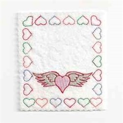 Valentine Bag Top embroidery design
