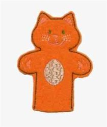 Cat Finger Puppet embroidery design