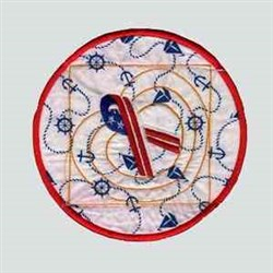 Patriot Ribbon embroidery design