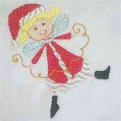Xmas Fairy embroidery design