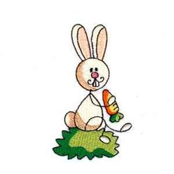 Stick Easter Bunny embroidery design