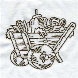 RW Thanksgiving Cart embroidery design