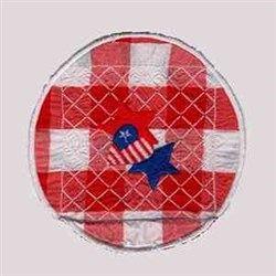 USA Table Runner embroidery design