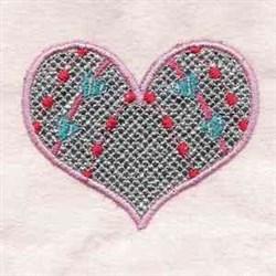 Valentine Heart Shape embroidery design