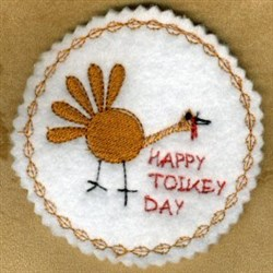 Happy Toikey Day embroidery design