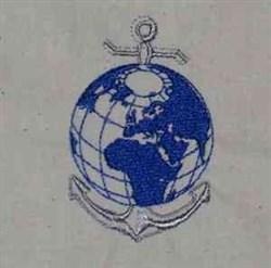 Anchor Globe embroidery design