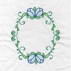 Tulip Oval embroidery design