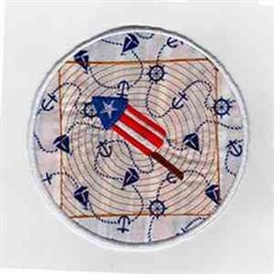 Patriotic Fireworks embroidery design
