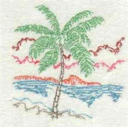 Tropical Palm embroidery design