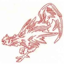 RW Rooster embroidery design
