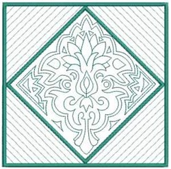 Floral Quilt Diamond embroidery design