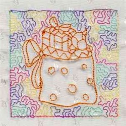 Xmas Quilt Stipple embroidery design